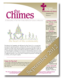 Chimes September 2012 Cover