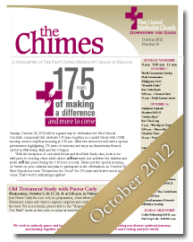Chimes October 2012 Cover
